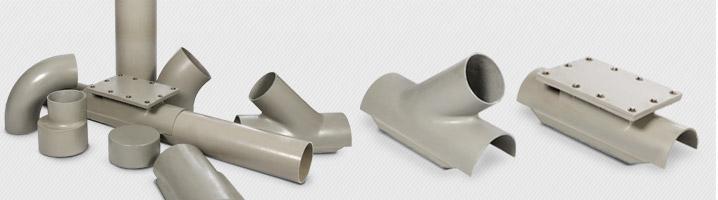 Teile in GFK - Rohre und Abzweigungen